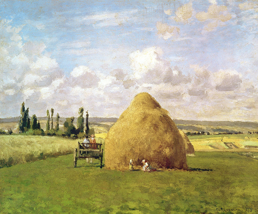 The Painting - The Haystack by Camille Pissarro