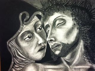 The Head of BVM and Jesus Christ by Alma Bella Solis