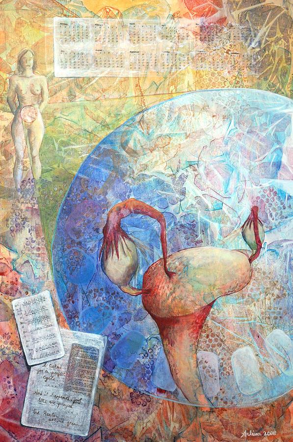 Woman Painting - The Healer Set Me Free by Arlissa Vaughn