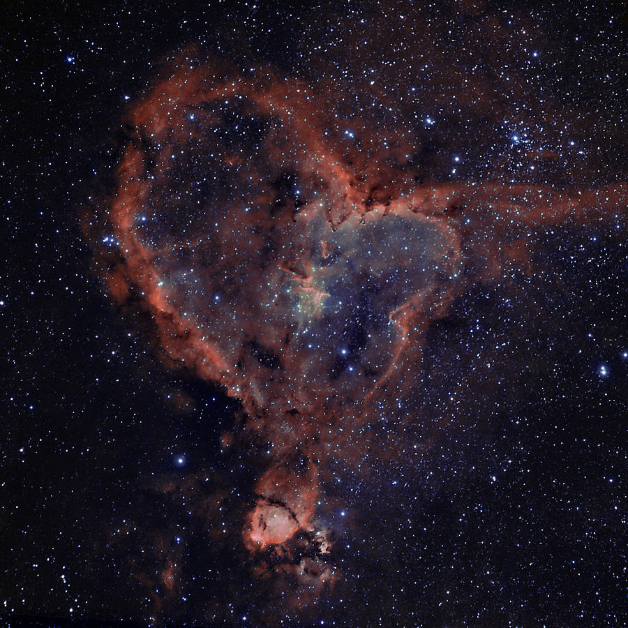 Astronomy Photograph - The Heart by Charles Warren