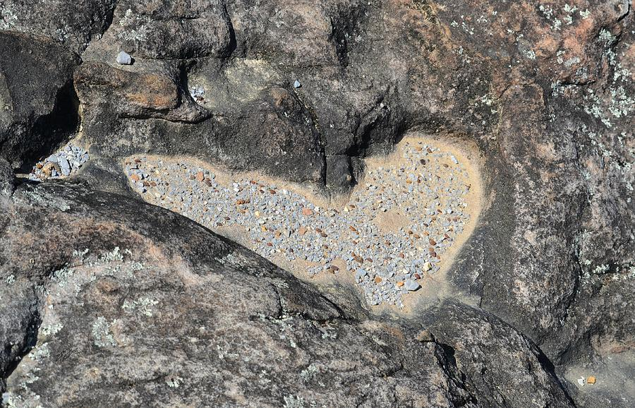 Rocks Photograph - The Heart In Stone by rd Erickson