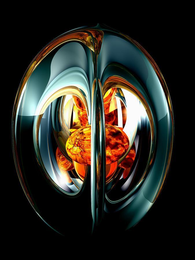3d Digital Art - The Heart Of Chaos Abstract by Alexander Butler