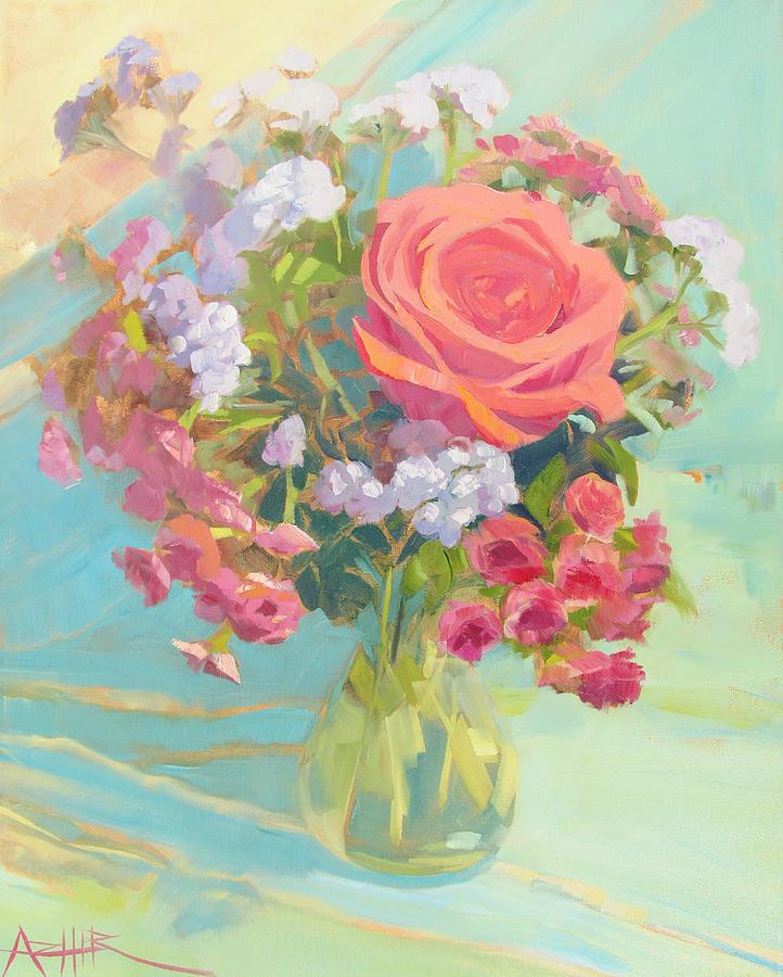 Flower Painting - The Heart of Flowers by Azhir Fine Art