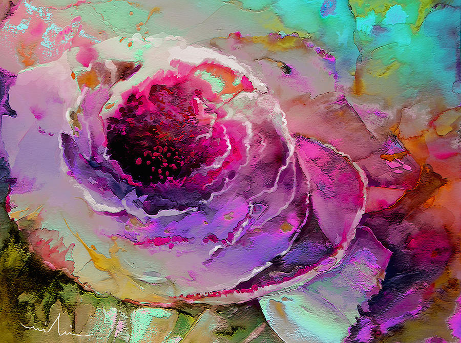 Flowers Painting - The Heart Of Nature by Miki De Goodaboom
