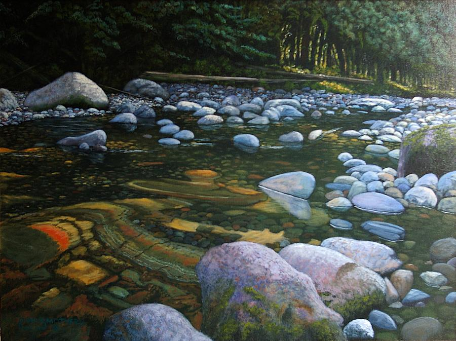 Waterscape Painting - The Heart Of Quartz Creek by Ron Smothers