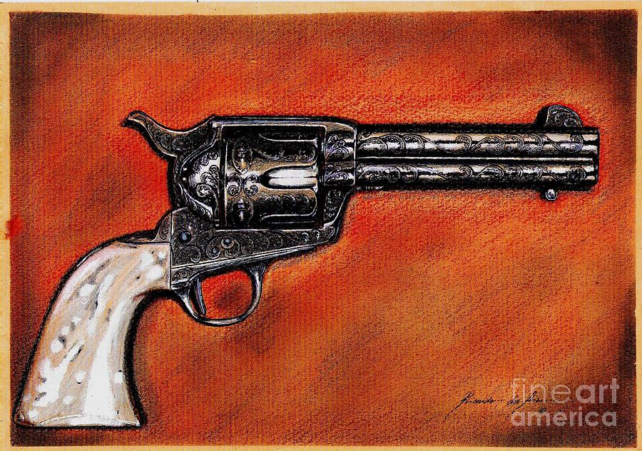 Peacemaker Drawing - The Heart Of The Gunfighter II by Ricardo Reis