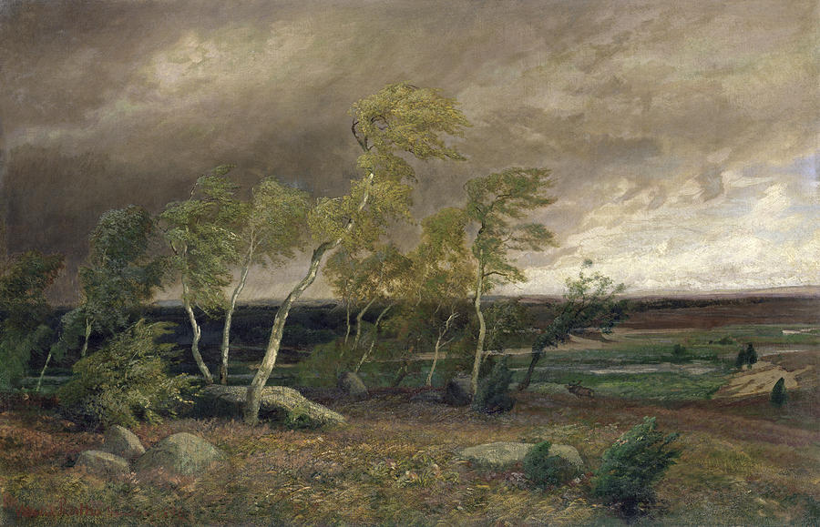 The Painting - The Heath In A Storm by Valentin Ruths