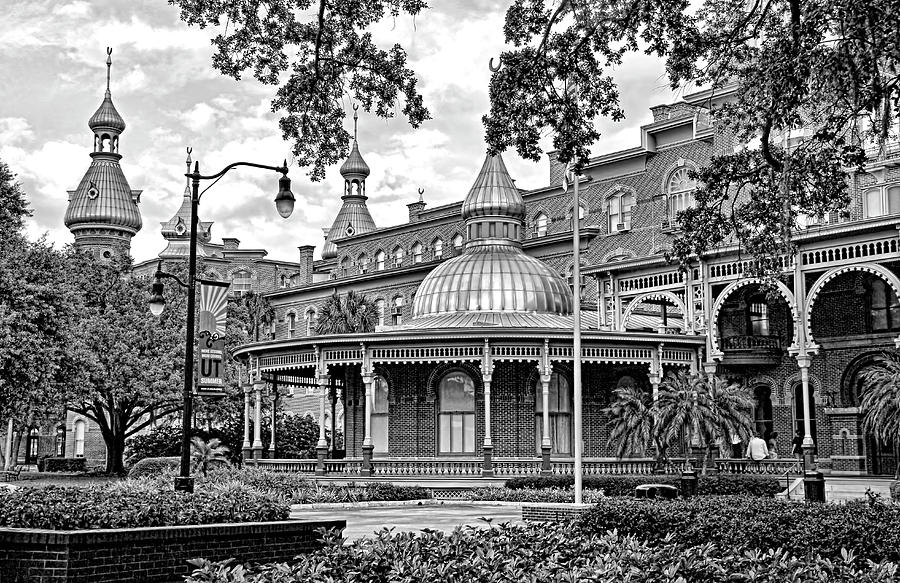 University Of Tampa Photograph - The Henry B. Plant Museum Bw by HH Photography of Florida