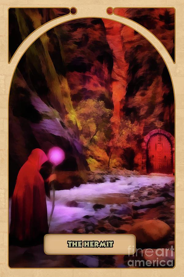 Magic Digital Art - The Hermit by John Edwards