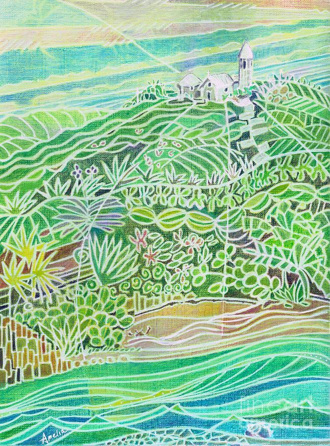 Bahamas Painting - The Hermitage on Cat Island by Amelia at Ameliaworks