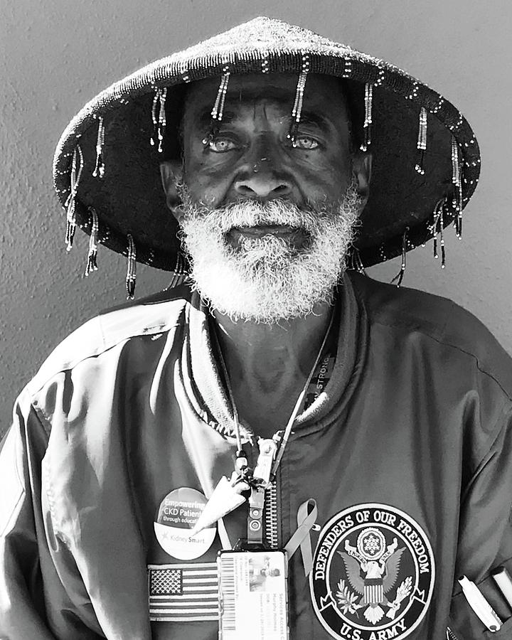 Portrait Photograph - The Hero In Black And White by Lorie Stevens