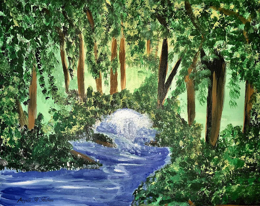 Forest Mixed Media - The Hidden Forest by Angela Holmes