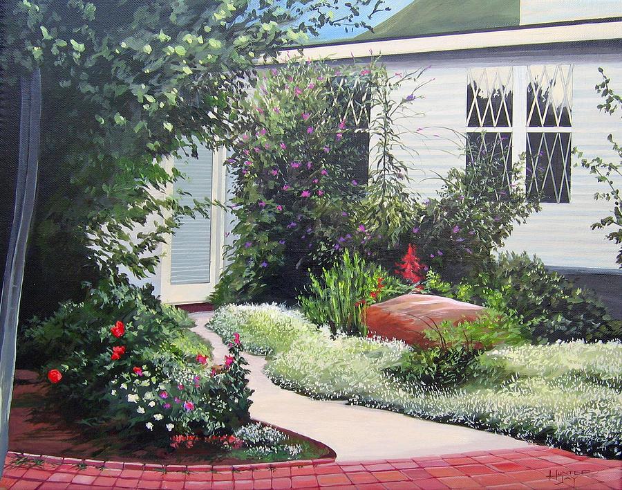Garden Path Painting - The Hidden Garden by Hunter Jay