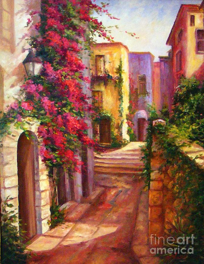 Street Scene Painting - The Hidden Street  by Gail Salitui