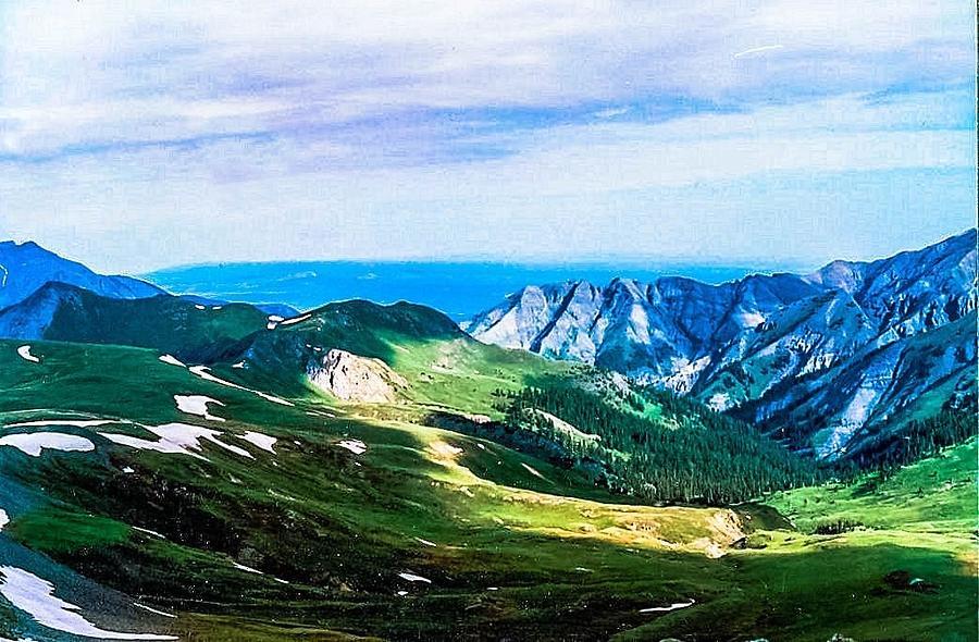 Mountains Photograph - The High Road by Tom Zukauskas