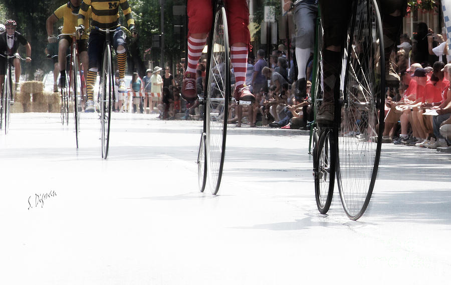 Penny-farthing Photograph - The High Rollers  by Steven Digman