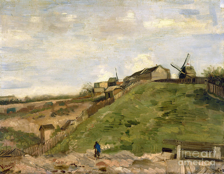 Vicent Painting - The Hill Of Montmartre With Stone Quarry by Van Gogh
