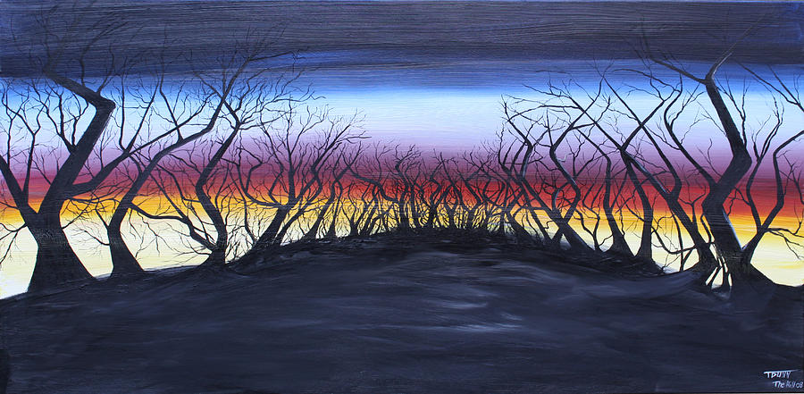 Trees Painting - The Hill by Tammy Dunn