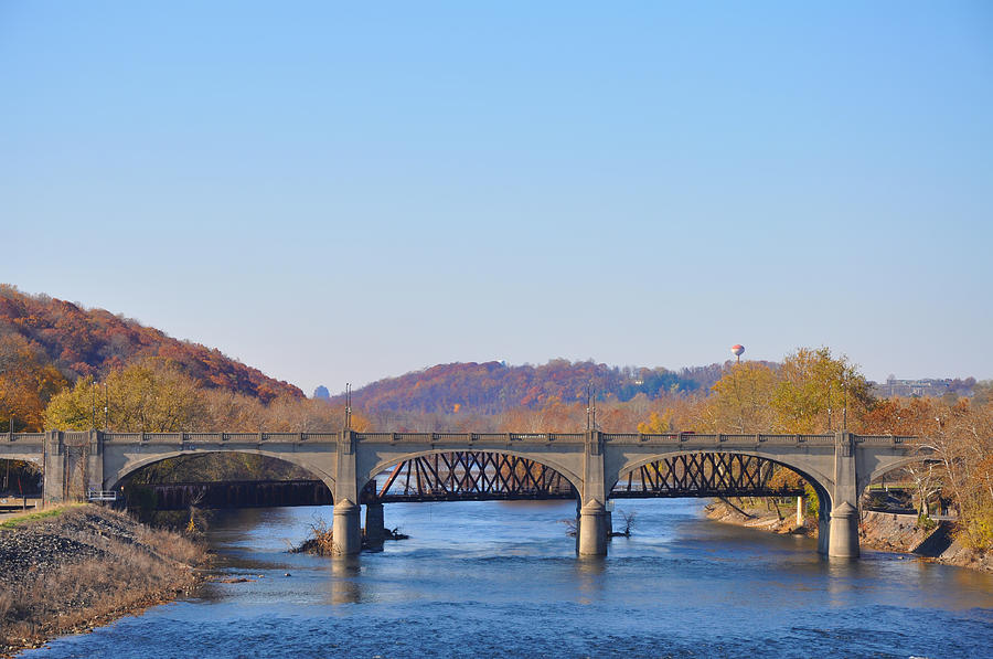 Hill To Hill Bridge Photograph - The Hill To Hill Bridge - Bethlehem Pa by Bill Cannon