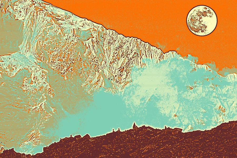Nature Painting - The Himalayas by Celestial Images