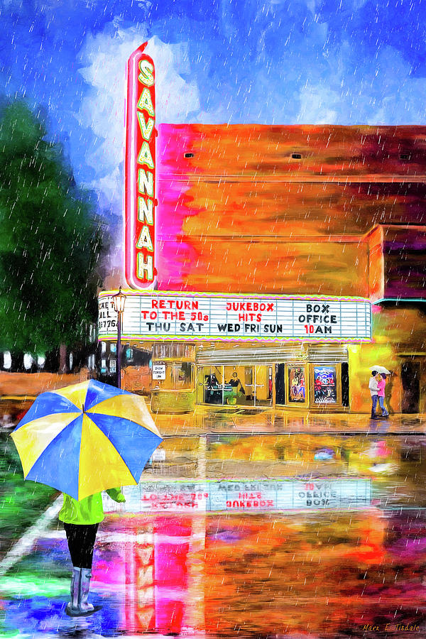 Savannah Painting - The Historic Savannah Theatre by Mark Tisdale