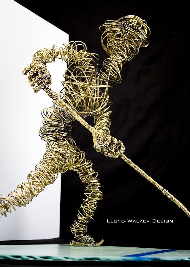 Hockey Sculpture - The Hockey Player by Lloyd  Walker