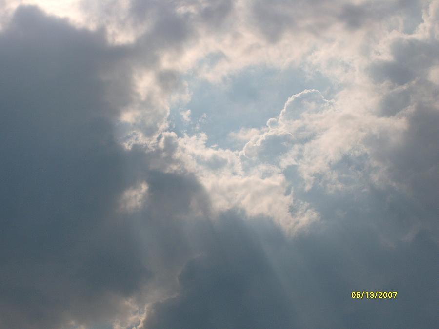Sky Photograph - The Hole In The Sky by Mikki Simon