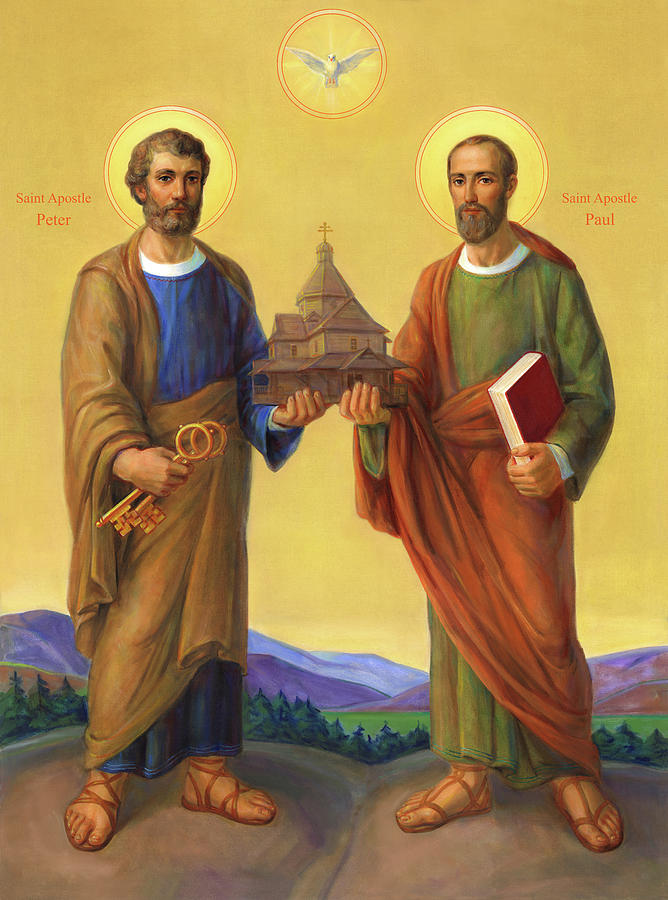 The Holy Apostles Saint Peter And Saint Paul by Svitozar Nenyuk