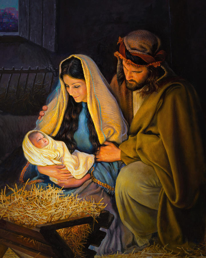 Jesus Painting - The Holy Family by Greg Olsen