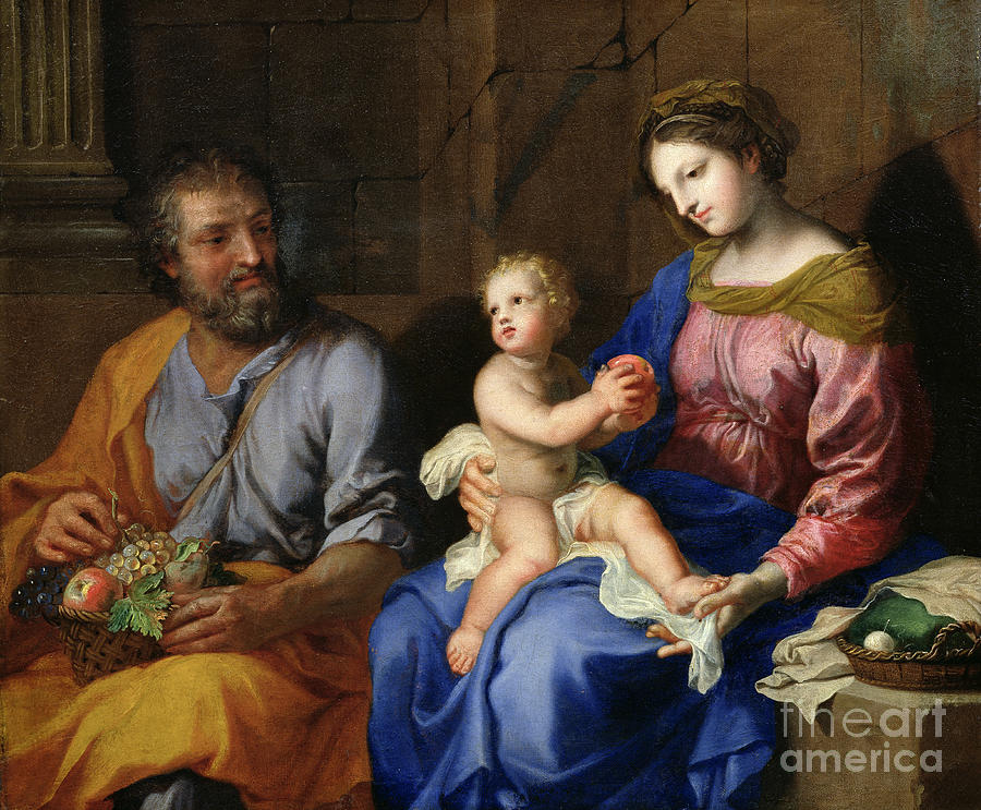 Stella Painting - The Holy Family by Jacques Stella