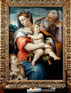 The Holy Family With The Infant St John The Baptist Painting by Giorgio Vasari
