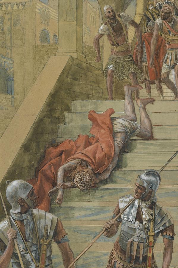 Praetorium Painting - The Holy Stair by Tissot