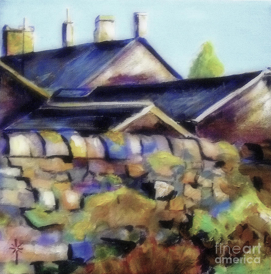 the home behind the wall by Jodie Marie Anne Richardson Traugott          aka jm-ART