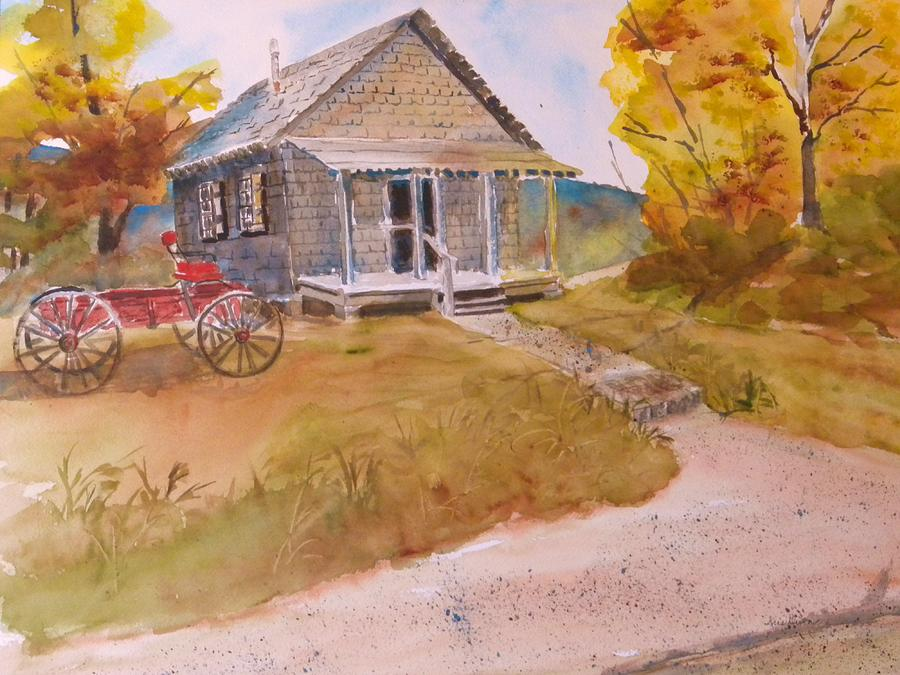Red Buggy Painting - The Home Place by Kris Dixon