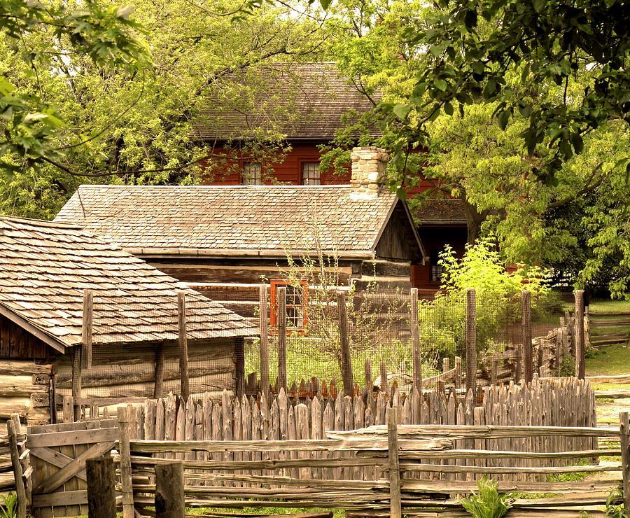 Log Cabins Photograph - The Homestead by Ian  MacDonald