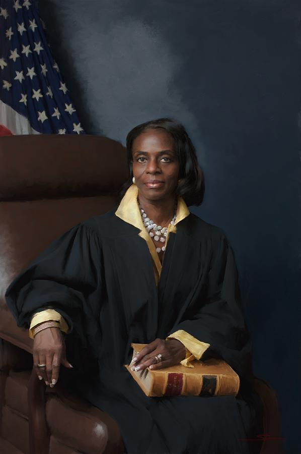 Women Painting - The Honorable Judge C R  Yates   U S  Judge Of Immigration by Carver Shivers