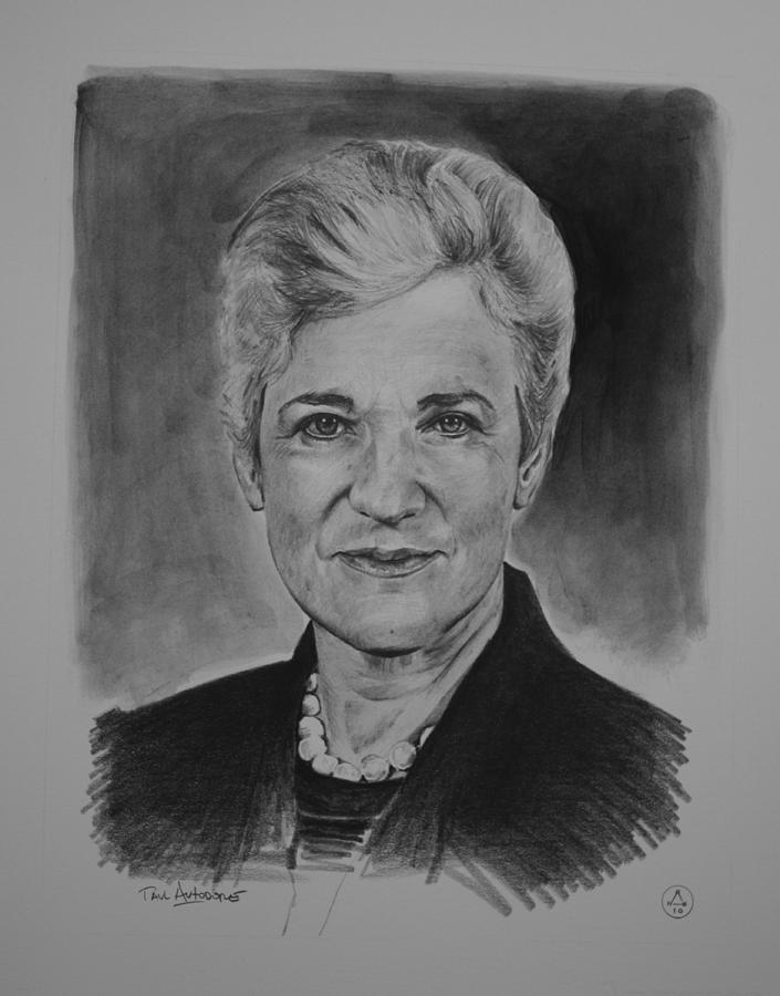 Graphite Drawing - The Honorable Lynne Abraham by Paul Autodore