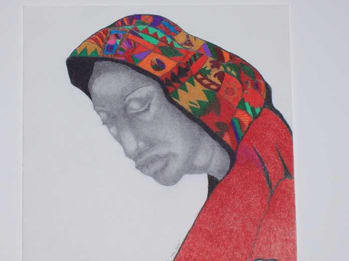 African American Woman Drawing - The Hood by Glenn Isaac