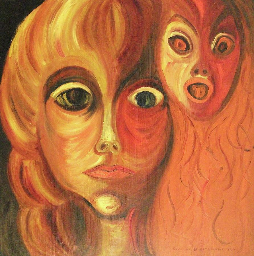 Abstract Painting - The Horror Of Living by Suzanne  Marie Leclair