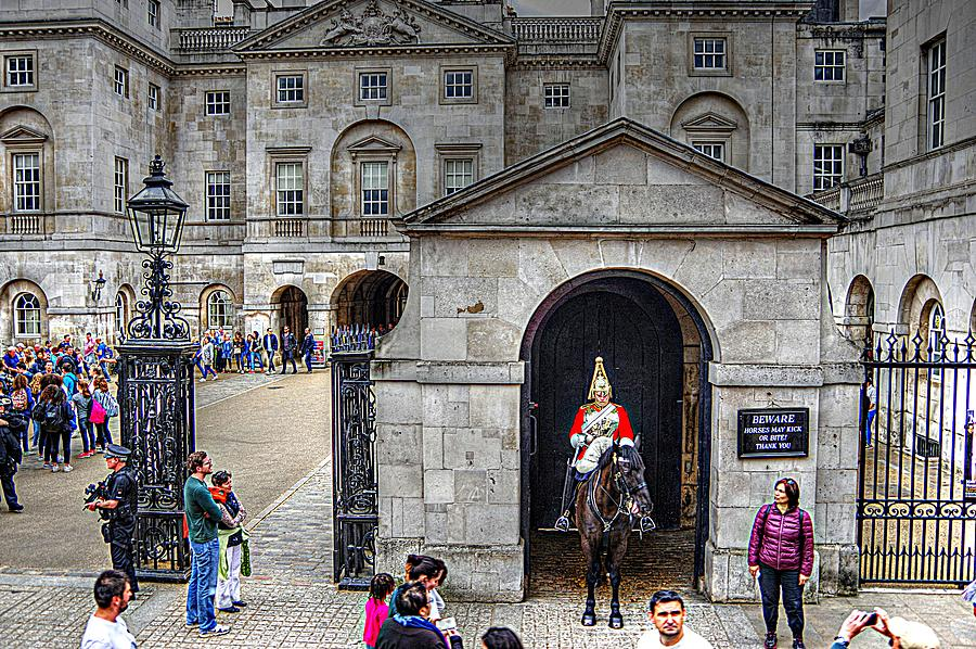 Castle Guard Photograph - The Horse Guard At Whitehall by Karen McKenzie McAdoo