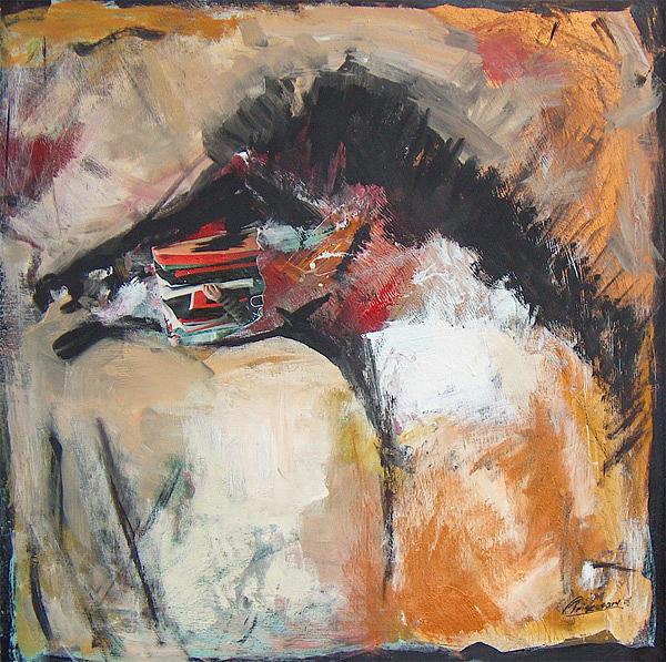 Animals Painting - The  Horse by Prisecaru Radu