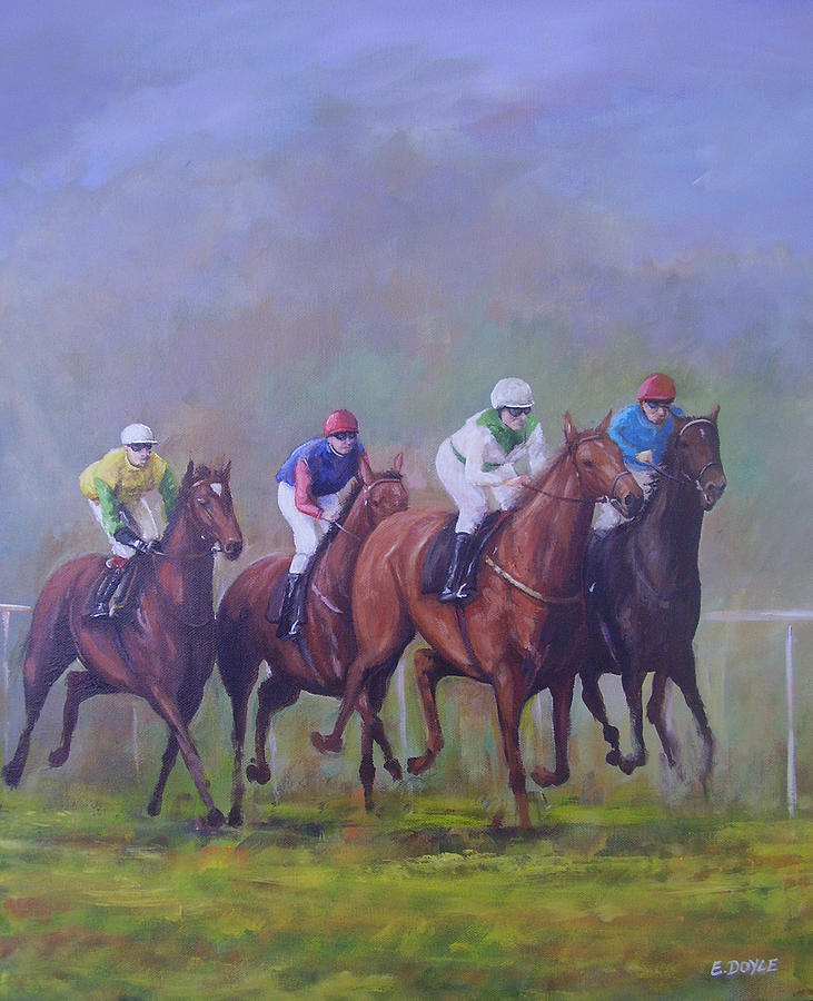 Horse Painting - The Horse Race by Eamon Doyle