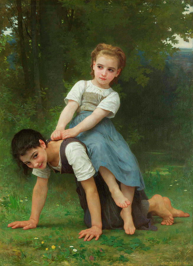 William-adolphe Bouguereau Painting - The Horseback Ride by Adolphe William Bouguereau