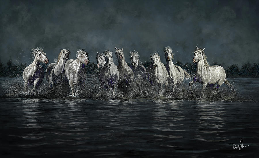 The Horses Of Camargue by Don Olea