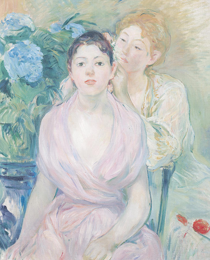 The Painting - The Hortensia by Berthe Morisot