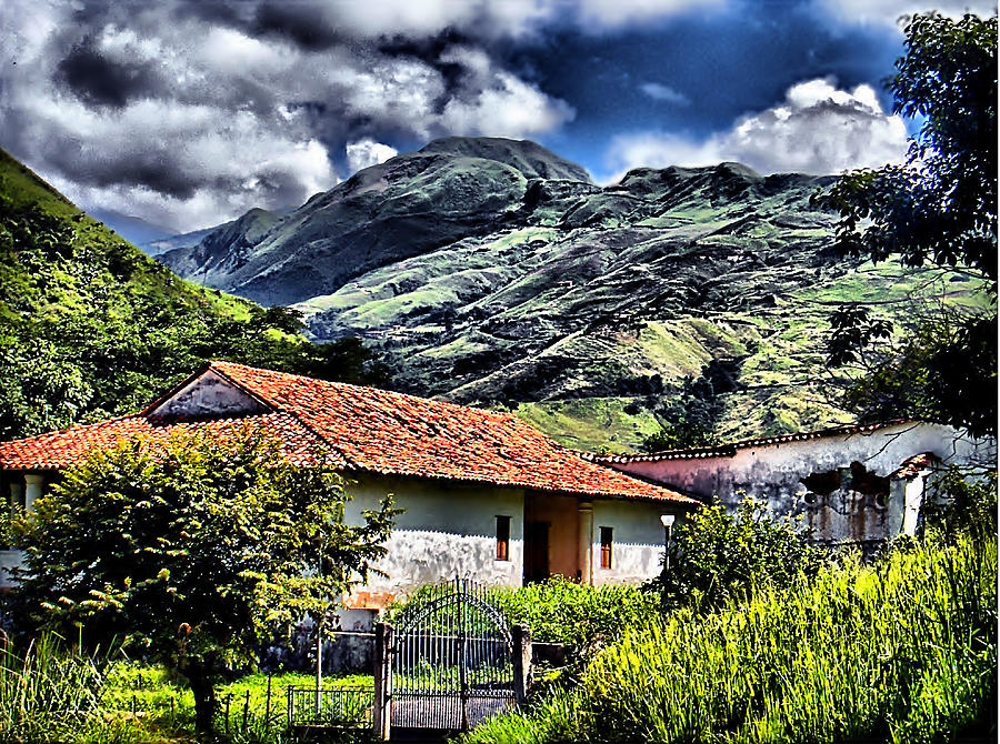House Photograph - The House In The Valley by Galeria Trompiz