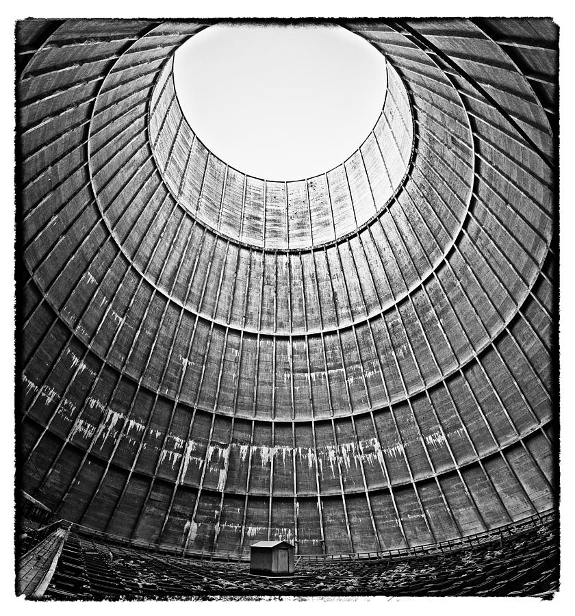 Abandoned Photograph - The House Inside The Cooling Tower - Abandoned Factory by Dirk Ercken