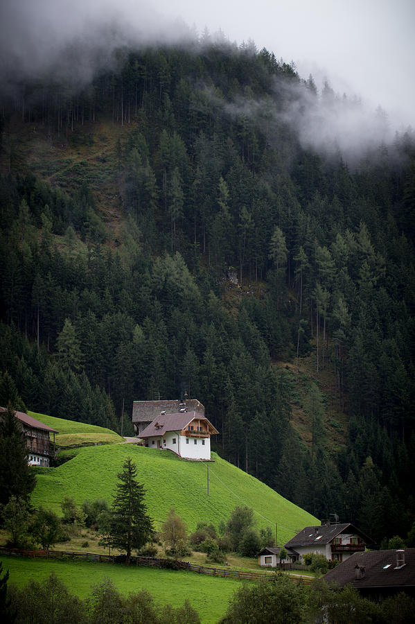 House Photograph - The House On The Hill by Wim Slootweg