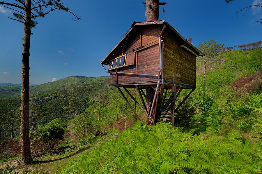 Liguria Photograph - The House On The Tree - La Casa Sullalbero by Enrico Pelos