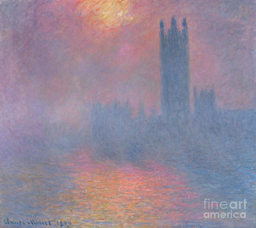 The Painting - The Houses Of Parliament London by Claude Monet